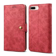 Lenuo Leather for iPhone 8 Plus/7 Plus, Red
