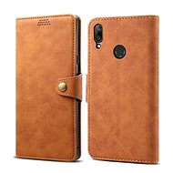 Lenuo Leather for Huawei Y7 Prime (2019), Brown - Mobile Phone Case