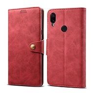 Lenuo Leather for Xiaomi Redmi Note 7, Red - Mobile Phone Case
