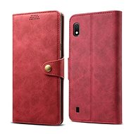 Lenuo Leather for Samsung Galaxy A10, Red - Mobile Phone Case