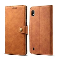 Lenuo Leather for Samsung Galaxy A10, Brown
