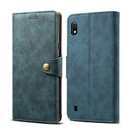 Lenuo Leather for Samsung Galaxy A10, Blue - Mobile Phone Case