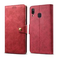 Lenuo Leather for Samsung Galaxy A30, Red - Mobile Phone Case