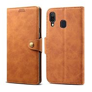 Lenuo Leather for Samsung Galaxy A40, Brown