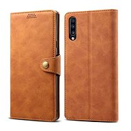 Lenuo Leather for Samsung Galaxy A50/A50s/A30s, Brown - Mobile Phone Case