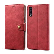 Lenuo Leather for Samsung Galaxy A70, Red - Mobile Phone Case