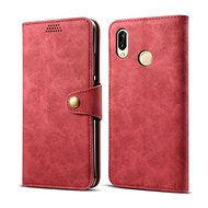Lenuo Leather for Huawei P30 Lite/P30 Lite New Edition Red