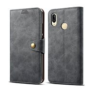 Lenuo Leather for Huawei P30 Lite/P30 Lite New Edition, Grey - Mobile Phone Case