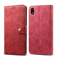 Lenuo Leather for Xiaomi Redmi 7A, red - Mobile Phone Case