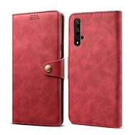 Lenuo Leather for Honor 20/Huawei Nova 5T, red - Mobile Phone Case