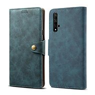 Lenuo Leather for Honor 20/Huawei Nova 5T, blue - Mobile Phone Case