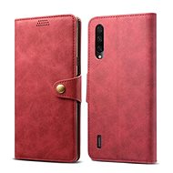 Lenuo Leather for Xiaomi Mi 9 Lite, Red