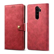 Lenuo Leather for Xiaomi Redmi Note 8 Pro, Red