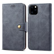 Lenuo Leather for iPhone 11 Pro, grey - Mobile Phone Case