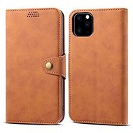 Lenuo Leather for iPhone 11 Pro, brown - Mobile Phone Case