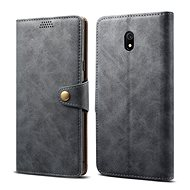 Lenuo Leather for Xiaomi Redmi 8A, grey - Mobile Phone Case