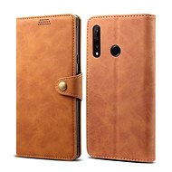 Lenuo Leather for Honor 9X, Brown - Mobile Phone Case