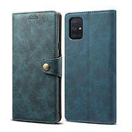 Lenuo Leather for Samsung Galaxy A71, Blue