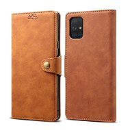 Lenuo Leather for Samsung Galaxy A71, Brown