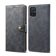 Lenuo Leather for Samsung Galaxy A51, Grey - Mobile Phone Case