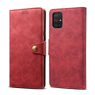Lenuo Leather for Samsung Galaxy A51, Red