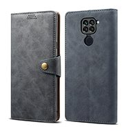 Lenuo Leather for Xiaomi Redmi Note 9, gray - Mobile Phone Case