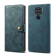 Lenuo Leather for Xiaomi Redmi Note 9, Blue - Mobile Phone Case