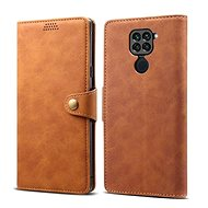 Lenuo Leather for Xiaomi Redmi Note 9, brown - Mobile Phone Case