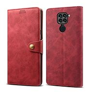 Lenuo Leather for Xiaomi Redmi Note 9, red - Mobile Phone Case