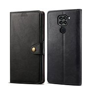 Lenuo Leather for Xiaomi Redmi Note 9, Black - Mobile Phone Case