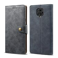 Lenuo Leather for Xiaomi Redmi Note 9 Pro/Note 9S, Grey - Mobile Phone Case