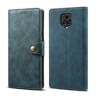 Lenuo Leather for Xiaomi Redmi Note 9 Pro/Note 9S, Blue