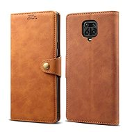 Lenuo Leather for Xiaomi Redmi Note 9 Pro/Note 9S, Brown