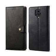 Lenuo Leather for Xiaomi Redmi Note 9 Pro / Note 9S, black - Mobile Phone Case