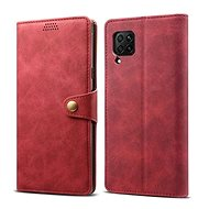 Lenuo Leather for Huawei P40 Lite, Red