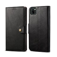 Lenuo Leather for Huawei Y5p, Black