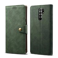 Lenuo Leather for Xiaomi Redmi 9, Green - Mobile Phone Case