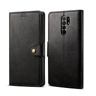 Lenuo Leather for Xiaomi Redmi 9, Black - Mobile Phone Case