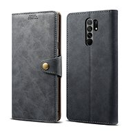 Lenuo Leather for Xiaomi Redmi 9,  Grey - Mobile Phone Case