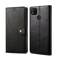 Lenuo Leather for Xiaomi Redmi 9C, Black - Mobile Phone Case