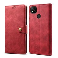 Lenuo Leather for Xiaomi Redmi 9C, Red