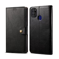 Lenuo Leather for Samsung Galaxy M21, Black - Mobile Phone Case