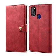 Lenuo Leather for Samsung Galaxy M21, Red - Mobile Phone Case