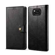 Lenuo Leather for Xiaomi Poco X3, Black - Mobile Phone Case