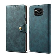 Lenuo Leather for Xiaomi Poco X3, Blue - Mobile Phone Case