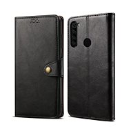 Lenuo Leather for Xiaomi Redmi Note 8, Black - Mobile Phone Case