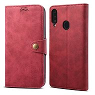 Lenuo Leather for Samsung Galaxy A20s, Red