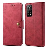 Mobile Phone Case Lenuo Leather for Xiaomi Mi 10T/10T Pro, Red