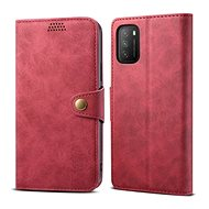 Lenuo Leather for Xiaomi Poco M3, Red - Mobile Phone Case