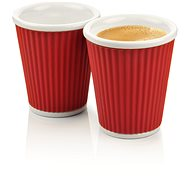 LES ARTISTES A-0634 Dark Red Mug Set 2pcs 180ml - Coffee Cups